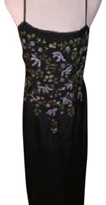 INC International Concepts Embroidered Floral Silk Dress