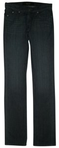 Rock & Republic 5 Style Zip Fly Cotton/spandex Stitching Crystals Straight Leg Jeans-Dark Rinse