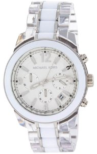 Michael Kors Michael Kors Preston Chronograph White and Clear Acetate Ladies Watch