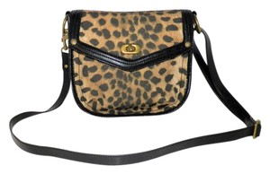 Nine West Tiger Front Flap Adjustable Strap Cross Body Bag