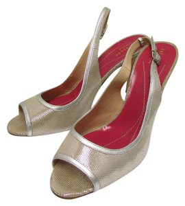 Kate Spade Like New Slingback Gold Pumps