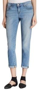 Eileen Fisher Organic Cotton Relaxed Fit Boyfriend Cut Jeans-Light Wash