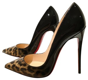 Christian Louboutin black Brown Pumps