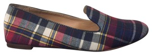 J.Crew Cora Loafer Leather Plaid Flats