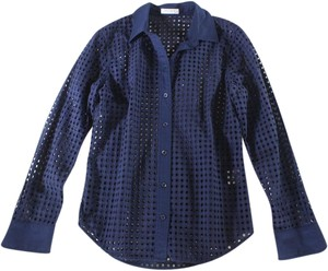 Equipment Cotton Circle Top Navy