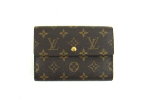 Louis Vuitton Monogram Canvas Leather Continental Clutch Trifold Long Wallet France