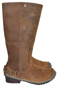 Sorel Wedge Snow Winter BROWN LEATHER Boots