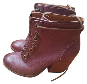 Kork-Ease Leather Hiker Burgundy Lacing Chunky red burgundy Boots