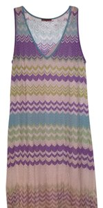 Missoni short dress Pastel purple, green and blue on Tradesy