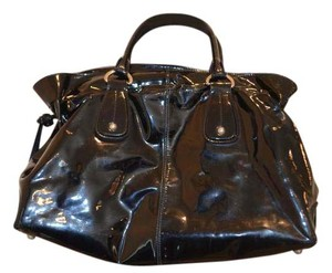 Tod's Patent Leather D Styling Tote in Black