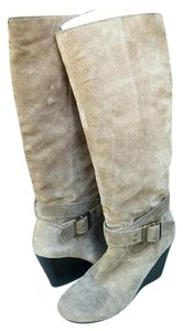 BCBGeneration Taupe Suede Boots