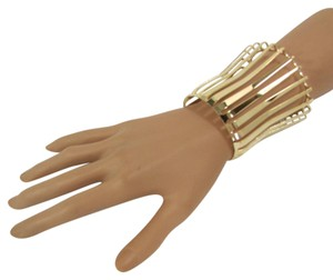 Other Women 3 Long Gold Wide Metal Cuff Bracelet Fashion Jewelry Unique