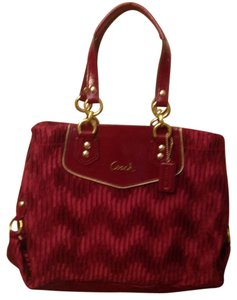 Coach Satchel in Wine