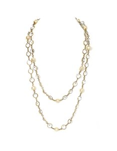 Chanel Chanel Crystal & Pearl Sautoir Necklace