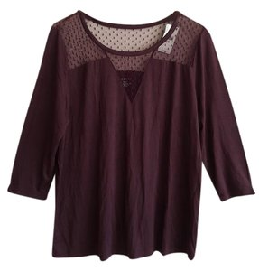 Lane Bryant Top Burgundy