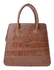 Mulberry Crocodile Satchel in brown