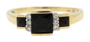 Other Vintage Onyx And Diamond Ring- 14k Yellow Gold