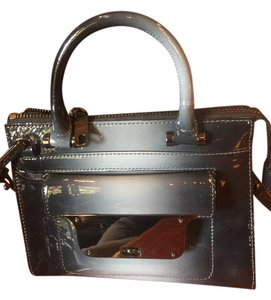 MILLY Patent Leather Silver Hardware Shoulder Strap Front Pocket Cross Body Bag