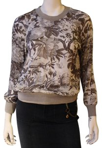ZIMMERMANN Floral Silk Top Grey