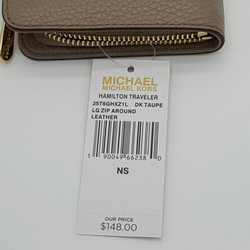 7ce6892591ab43 Michael Kors Michael Kors Hamilton Traveler Large Zip Around Wallet Image  9. 12345678910