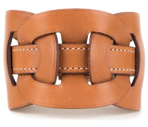 Hermès Hermes Brown Leather Fetiche Bracelet