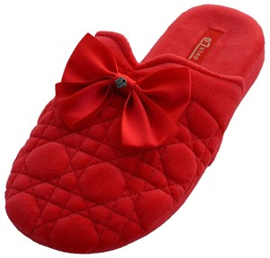Vecceli Italy Quilted Slippers Comfortable Red Sandals