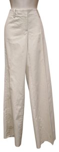 Elie Tahari Stretchy Striped Flare Pants Beige Striped
