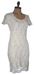 Anthropologie short dress IVORY AND YELLOW Willow & Clay on Tradesy