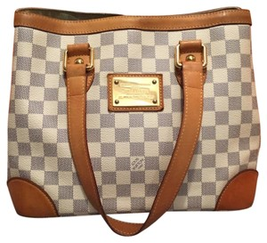 Louis Vuitton Tote in White, Brown, Gold tone