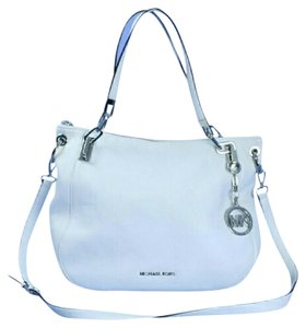 Michael Kors Leather Tote in White