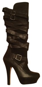 Dolce Vita Italian Leather Suede Over The Knee Black Boots