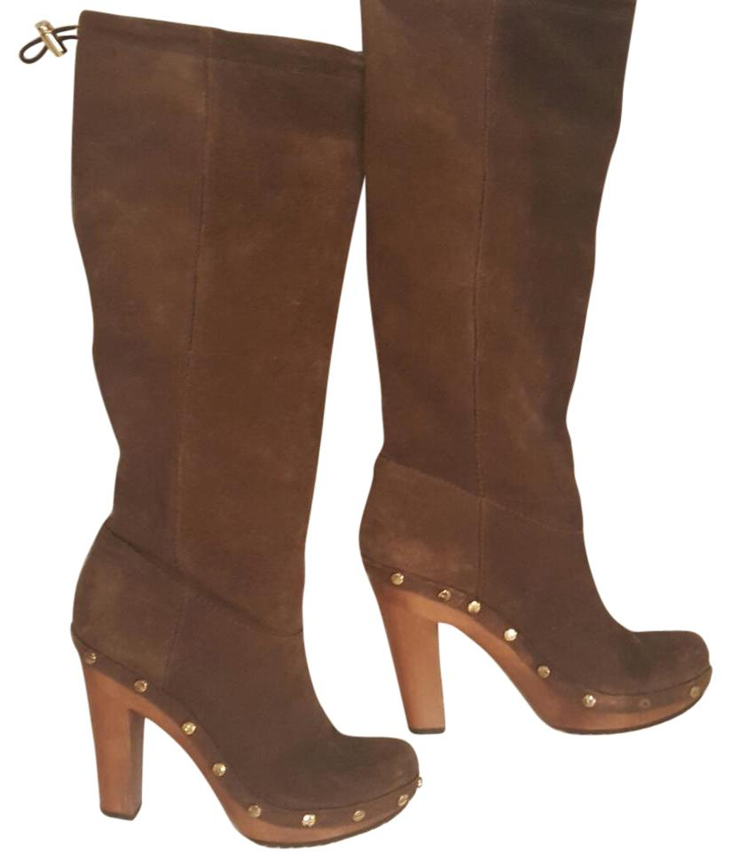 86d03101b5a Tory Burch Brown Suede Leather Boots Booties. Size  US 7 Regular (M ...