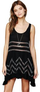 Free People short dress Black Voile And Lace Trapeze on Tradesy