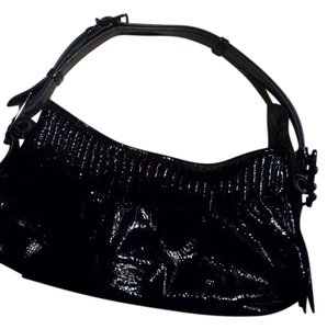 Burberry Patent Leather Italian Leather Shoulder Bag
