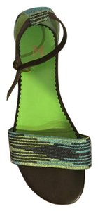 M Missoni Cute Pattern blue, green and brown Sandals