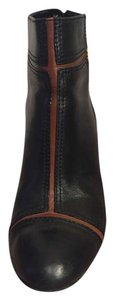Tory Burch Real Leather Bootie Chic Navy with some camel details Boots