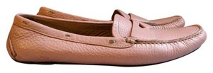 Prada Pebbled Leather Textured pink Flats