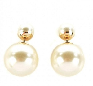 Dior Pearl Mise En Dior Tribal Earrings