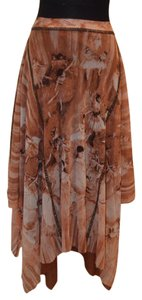 Jean-Paul Gaultier John Paul Gaultier Vintage Print Skirt Orange, brown and off white