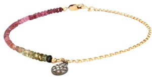 Rebecca Scott Diamond Disc Charm Harmony Bracelet in Multicolor Tourmaline