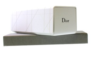 Dior Cannage hard white glasses case