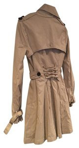 Bebe beige trench coat with tie detail on back Trench Coat