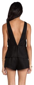 Finders Keepers V Deep V Plated Peplum Dress