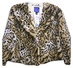 Forever 21 Animal Print Faux Fur Fur Coat