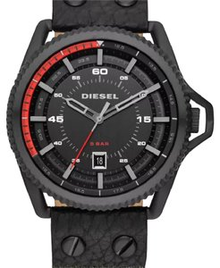 Diesel Diesel roll cage black denim strap watch