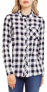 BCBGeneration Button Down Shirt Deep Blue Combo