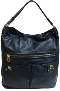 Marc Jacobs Gold Hardware Leather Studded Soft Comfortable Hobo Bag