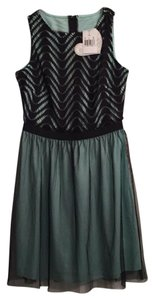 Splendid short dress black and mint on Tradesy
