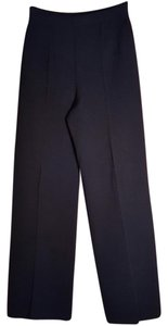 St. John Knit Stretchy Looks New Blue Trouser Pants NAVY