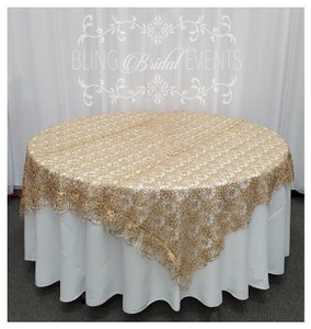Champagne Table Overlay